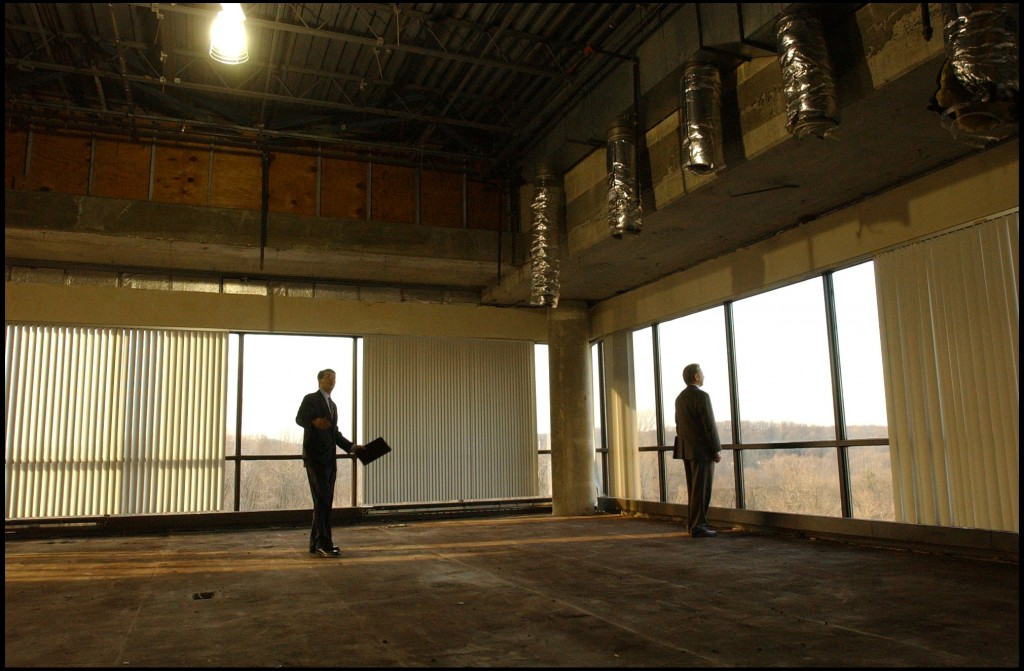 Photo of large empty building and real estate developers, Philadelphia, Pennsylvania